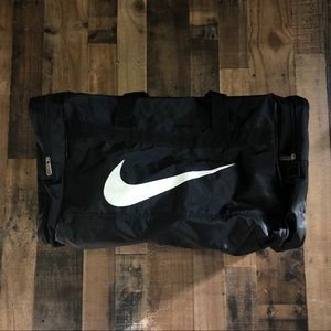 Vintage Nike Air Swoosh Gym Duffle Workout Bag